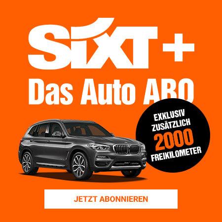 Angebot von Sixt Plus mit 2000 Freikilometern