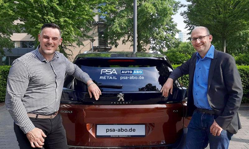 Cyril Coat-Schneider (Rent-Manager) und Christian Adolphi (Leiter Marketing), von rechts nach links.